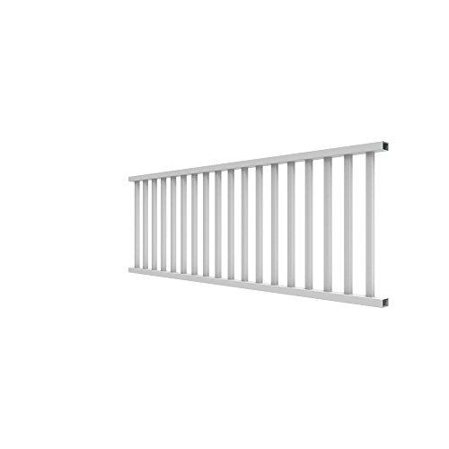 YardSmart 73012424 Select Rail Square Bal Vinyl Railing, 8' x 36', White