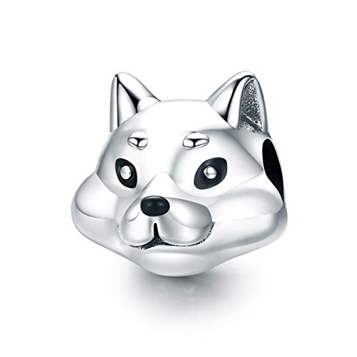 (Everbling Lovely Pet Shiba Inu Dog 925 Sterling Silver Bead Fits European Charm Bracelet)