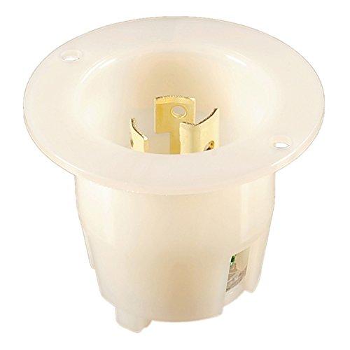 Flanged Inlet Twist-Lock NEMA L5-15P Easy Assembly - Durable Nylon Construction - WBL515R - Rewireable ()