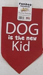 Fun Dog Bandanas Dog is The New Kid Bandana for Dogs, 22 by 22 by 31-Inch