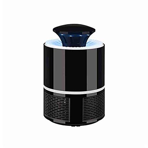 LED Lamp Electric Mosquito Killer Indoor Mosquito Traps Repellents Bug Fly Zapper USB Charger Home Garden Pest Control Supplies   Black