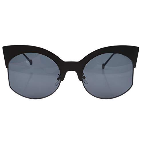 Soleil Sun 1 Universel Ladies Cadre Demi Style Bigsweety pour Femmes Lunettes de Rétro Glasses qgpzIxCwz