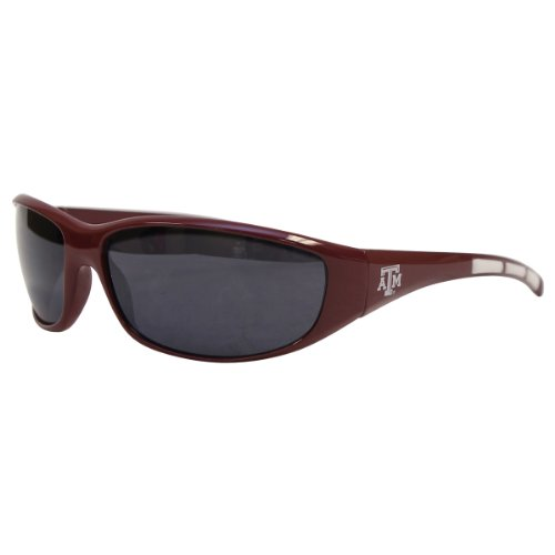 NCAA 3 Dot School Colors and Logo Sport Sunglasses (Texas A&M Aggies)