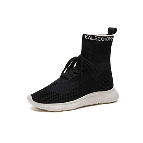 FH Súper Calcetines de Fuego High Shoes Sneakers versión Red Coreana de Calcetines Elastic Shoes (Color : Negro, Size : EU39/UK6.5/CN40)