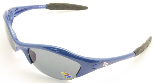 NCAA Kansas Jayhawks Sunglasses Sport Wrap Blue - Cheap Prescription Oakley Sunglasses