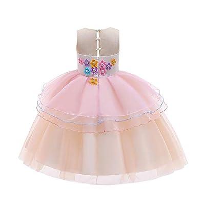 Unicorn Princess Dresses Costume for Girls Halloween Dress Up Cosplay Birthday Party Dress: Clothing