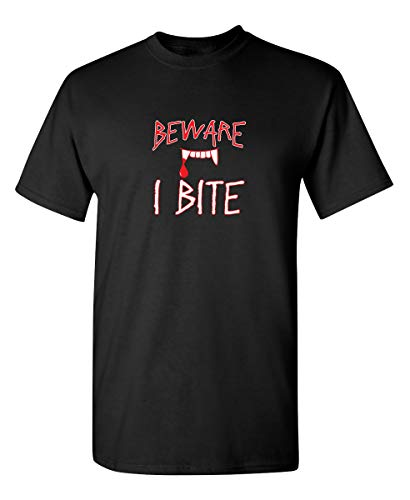 Beware I Bite Halloween Costume Funny Novelty Adult