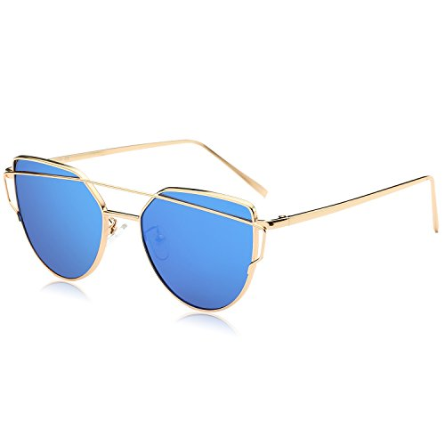 SojoS Cat Eye Mirrored Sunglasses - Paloma Soriano