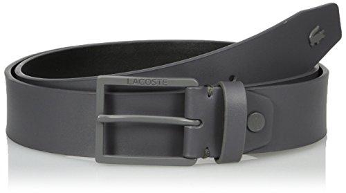Classic Embossed Belt (Lacoste Men's Classic Logo Embossed Buckle Belt, Anthracite,)