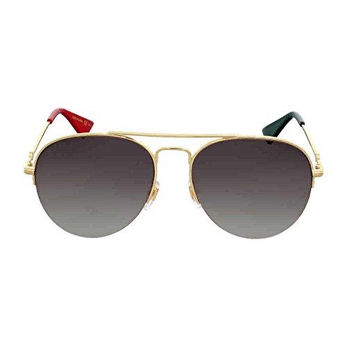 Gucci Brown Gradient Aviator Sunglasses