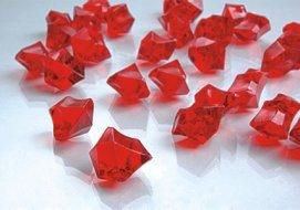 Dashington 6 Pounds - Red Translucent Acrylic Gems, Ice Rocks, for Table Scatter, Vase Filler, Aquarium Decor, Bulk Amount.