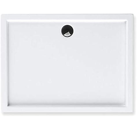 Blanco.Incluye V/álvula de 90 Plato ducha acr/ílico 120x76x3,5 cm