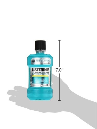 Listerine Ultraclean Antiseptic Mouthwash, Cool Mint, 250 ml