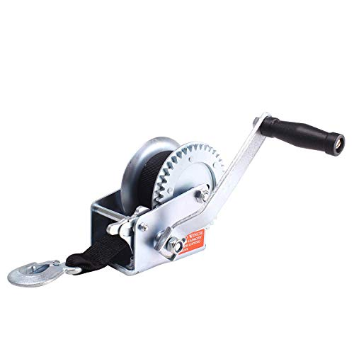 - Amarite Manual Operated Hand Winch Boat Trailer Winch Hand Winch Mount 1200 lbs