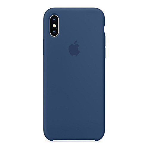 Keklle iPhone X Silicone Case, Keklle Liquid Silicone Gel Rubber Shockproof Case and Ultra Soft Microfiber Cloth Lining Cushion for iPhone X/10 (Blue Cobalt)