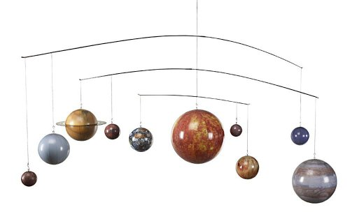 Planets Mobile - Hanging Solar System Mobile, Authentic Models ()