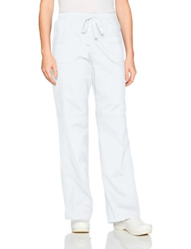 WonderWink Women's Faith Multi-Pocket Cargo Pant, True White, Extra Large Petite by WonderWink
