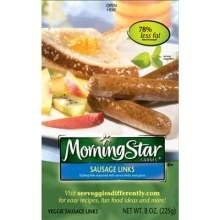 Kelloggs Morningstar Veggie Sausage Link, 0.81 Ounce -- 168 per case.