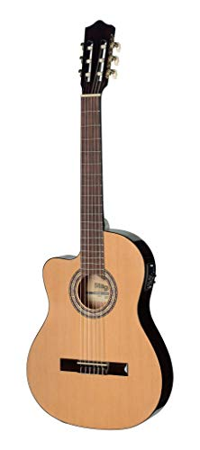 Stagg C546TCE-LH N Thin Body, Left Handed Cutaway Acoustic-Electric Classical Guitar with 4-Band EQ - Natural