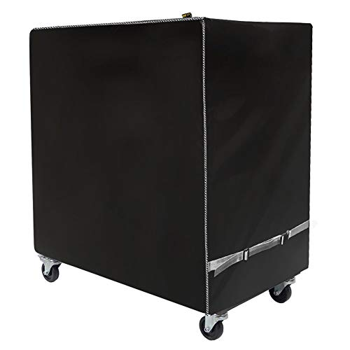 Cooler Cart Cover - Universal Fit for Most 80 QT,Waterproof Thickened Fabric,Rolling Cooler (Patio Cooler,Beverage Cart, Rolling Ice Chest) Protective Cover (Black)
