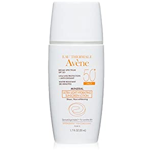 Avene Mineral Ultra-Light Hydrating Sunscreen SPF 50 Plus Face Lotion, 1.7 Fluid Ounce