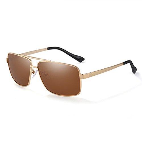 Conductor conducción Gafas pescar espejo Protección sol de de hombres gafas Polarizador retro de sol de Gafas UV Polarizador Gafas los de de Cómodo Goldrahmen de conducción CtfRqH6tw