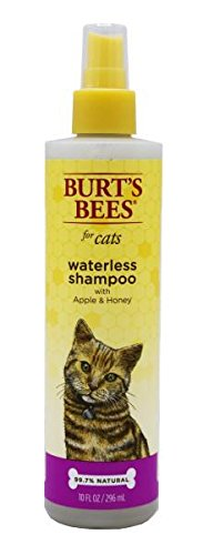 Waterless Cat Shampoo - Burt's Bees for Cats All-Natural Waterless Shampoo with Apple and Honey | Best Waterless Shampoo Spray for Cats, 10 Ounces