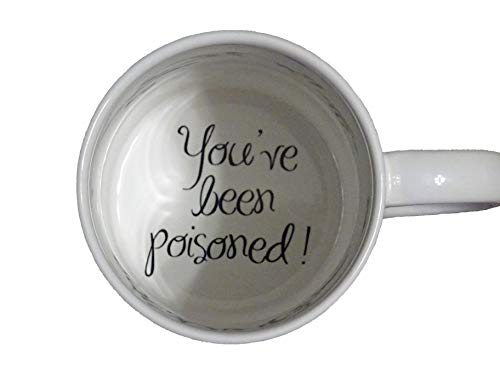 You 3 have been poisoned with fly Coffee Mug, surprize mug, Father, Grandmother, Bottom mug, hidden message, secret message, Funny, Cool, Coffe cup