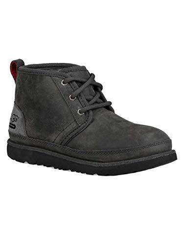 UGG Kids K Neumel II WP Pull-on Boot, Charcoal, 2 M US Little Kid (Kids Waterproof Ugg Boots)