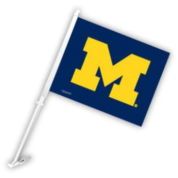 NCAA Michigan Car Flag, One Size, - Outlets Garden Jersey Mall
