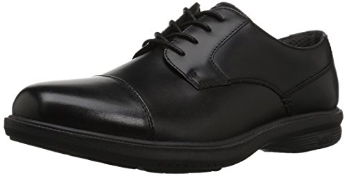 Nunn Bush Men's Maretto Cap Toe Oxford, Black, 12 M US (Casual Cap Toe Shoes)