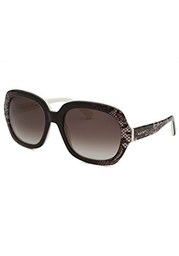 Valentino Sunglasses VAL 678S Sunglasses 102 Black lace with white inside - Brand Name Sunglasses