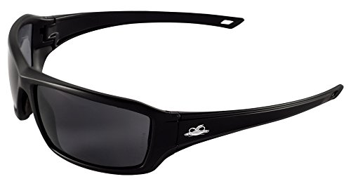 Bullhead Safety Eyewear BH1563AF Walleye Safety Glass, One Size, Matte Black Frame/Temple, Smoke Anti Fog Lens, Black TPR Nose, TPR Temple Icon  (144 Per - Bullhead Sunglasses