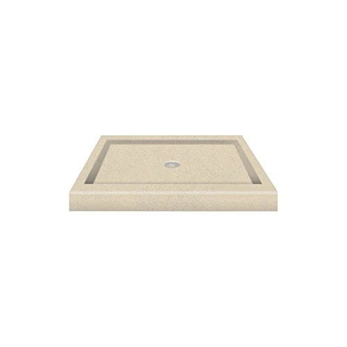 "Transolid PAN3260R-A2 60"" x 32"" Decor Solid Surface Right-Hand Shower Base, Seaside on sale"