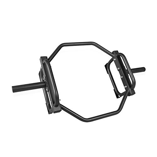 CAP Barbell Olympic Trap Bar, Hex Bar, Shrug Bar, Deadlift Bar, Black