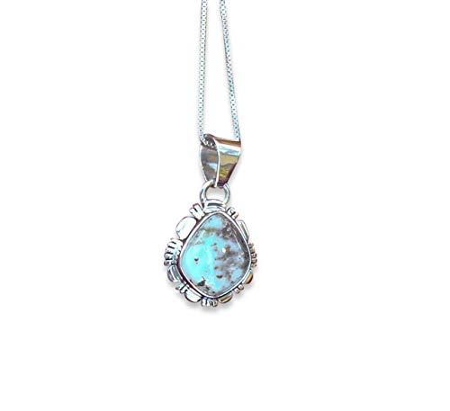 Firebird Jewelers Native American Dry Creek Turquoise Silver Pendant