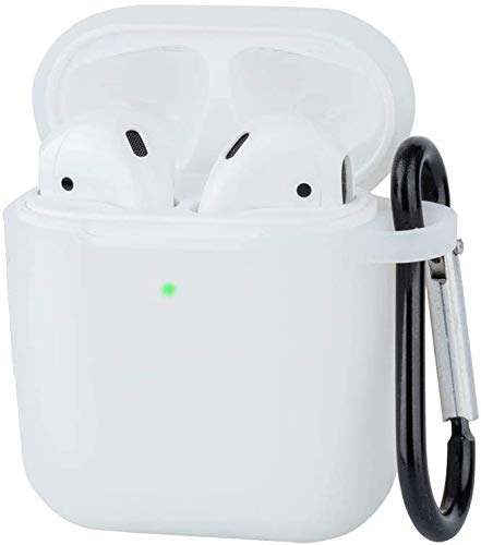 New Earpods Case Silicon with Earbuds Strap and Keychain Upgraded Ultra-Thin Soft Skin Cover Compatible with i12 inpods 12 Apple AirPods 2 & 1 - (i12 Case-Clear)