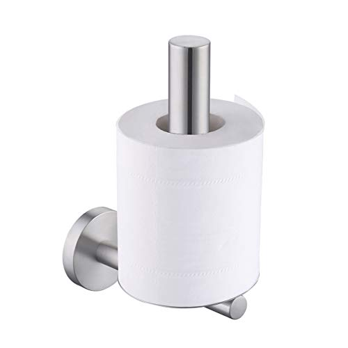 Vertical Toilet Tissue Holder - KES SUS304 Stainless Steel Bathroom Toilet Paper Holder and Dispenser Wall Mount Brushed, A2176-2