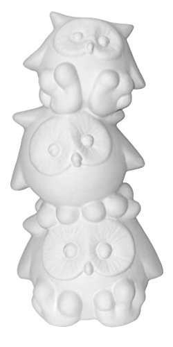 Wise Owls Bank Stack - Paint Your Own Ceramic Keepsake Unpainted Ceramic Figures