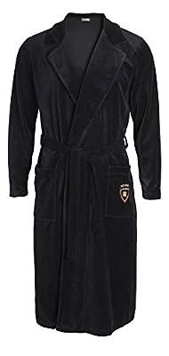 Yugo Sport Men's Plush Velour Bathrobe - Kimono Spa Robe - Long Sleeve Shawl Collar