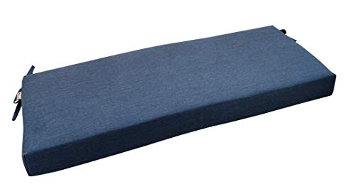 RSH Décor Indoor/Outdoor Bench Cushion Made from Premium Sunbrella Heritage Denim Blue Jean Fabric - 2