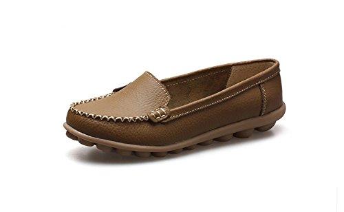 Comfort Comfort Dames Comfortabel Rijden Platte Instappers Schoenen Bruin
