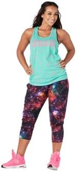 【ズンバ】 Zumba Constellation Twisted Back Tank Bahama Blue