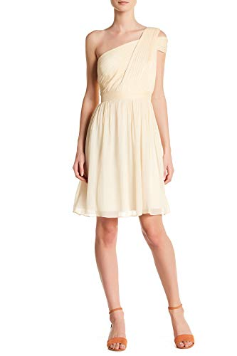 J. Crew Wedding and Cocktail Party One Shoulder Cara Dress for Women in Champagne, 12