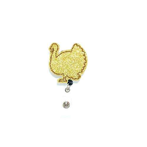 Gold Glitter Turkey Badge