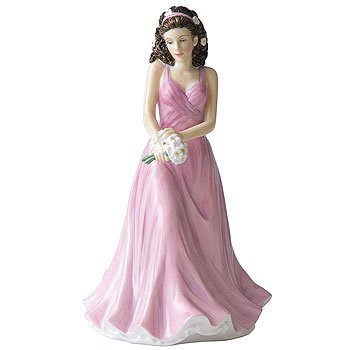 Doulton Figurine Royal Birthday (Royal Doulton Flower of the Month April Daisy Figurine)