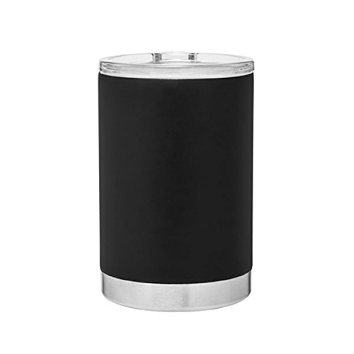3-in-1, Stainless Steel Can Cooler, Bottle Insulator and Hot/Cold 11oz. Capacity Thermal Tumbler - Matte Black (Thermal Bottle Cooler)