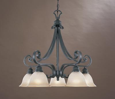 Designers Fountain 96185-NI Barcelona 5-Light Down Chandelier, Natural Iron (Barcelona Indoor 5 Light)