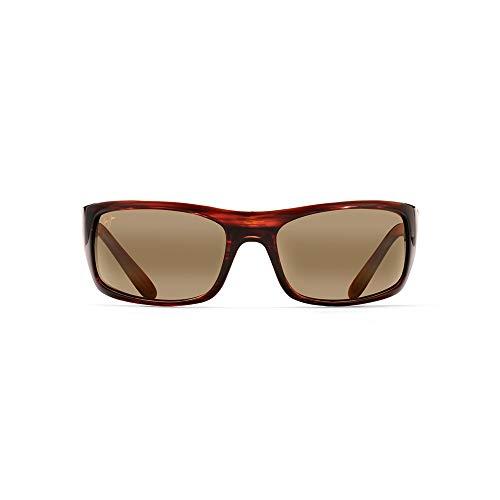 Maui Jim Peahi H202-10 | Polarized Oval Sunglasses, Burgandy Tortoise One Size