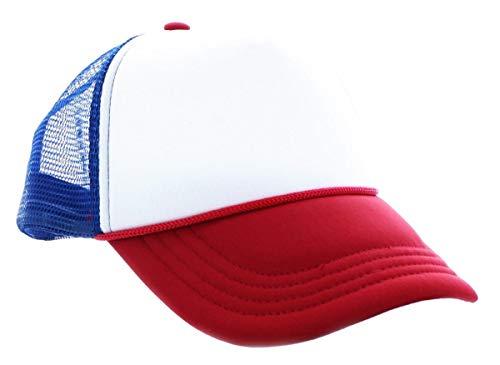 Fourth Castle Micromedia Stranger Things Red, White & Blue Mesh Trucker Cap